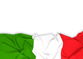Italy flag on white background with clipping path. 3D illustration