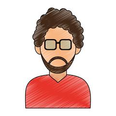 man avatar icon image vector illustration design