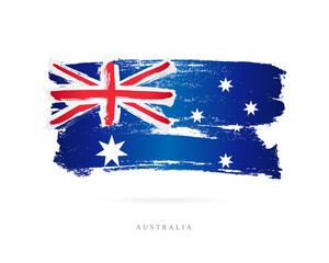 Flag of Australia. Abstract concept