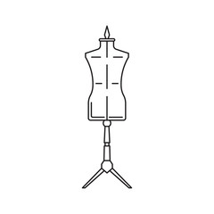 sewing mannequin vector icon isolated on white background