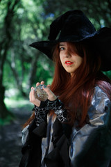 Picture of witch in hat