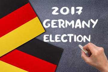 Election 2017, Germany on the chalk board