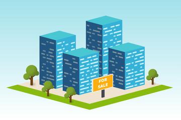 Real estate building. Constraction company vector