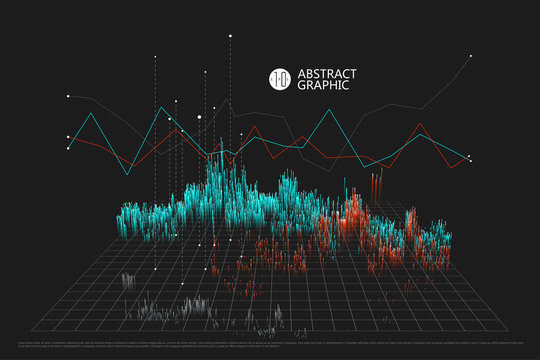 A spatial information chart, abstract graphic design.