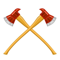 Firefighter Cross Axes Icon