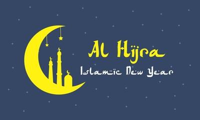 Al Hijra Islamic New Year Vector Illustration For Greeting Card, Celebration Card