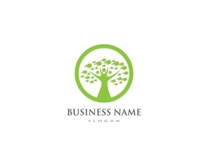 family tree logo template vector illustration