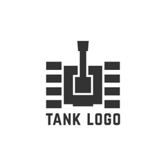 black simple tank logo