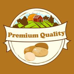 Potatoes retro label design