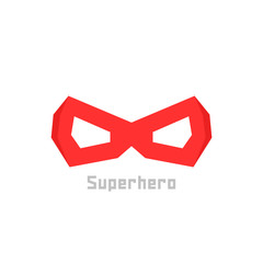 simple red superhero mask icon