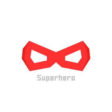 simple red superhero mask icon