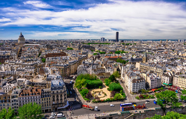 Skyline of Paris with view on The Latin Quarter of Paris, the 5th and the 6th arrondissements of Paris, France