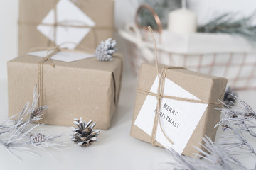 Gift boxes for New Year and Christmas