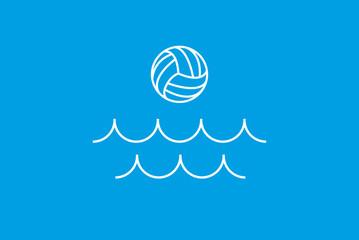 waterpolo / waterball Logo