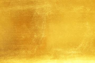 Shiny yellow leaf gold foil