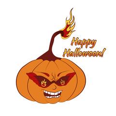 Cool burning pumpkin