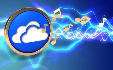 3d clouds symbol clouds symbol
