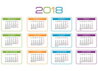 2018 calendario