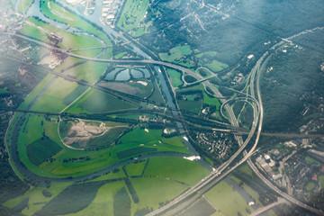 Autobahnkreuz im Ruhrgebiet