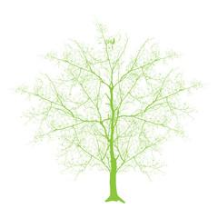 Vintage Tree - clip-art vector illustration