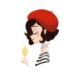 Profile of a Parisian girl