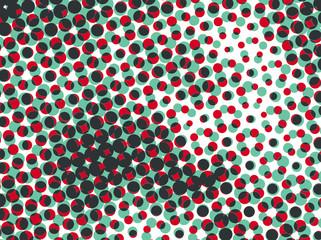 Vintage Abstract Polka Dots Vector Pattern