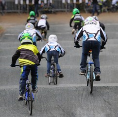 bicycle motocross pilote en BMX Race