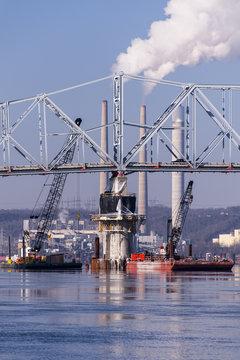 Construction - Milton-Madison Bridge, Ohio River, Milton, Kentucky & Madison, Indiana