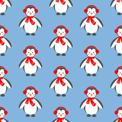 Penguin seamless pattern