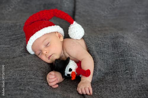 1580a09072c1b Little sleeping newborn baby boy