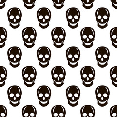 Seamless pattern from the black skulls