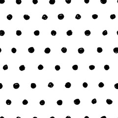 Seamless background with hand drawn spots. Vector illustration.