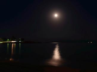 Moon path on the sea.