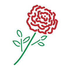 Single rose color sign 2.09