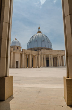 The famous landmark Basilica of our Lady of Peace, record breaking Christian place of worship, Yamoussoukro, Ivory Coast