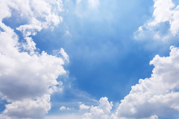 clouds in blue sky. The sky with clouds for background