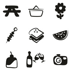 Picnic Icons Freehand Fill