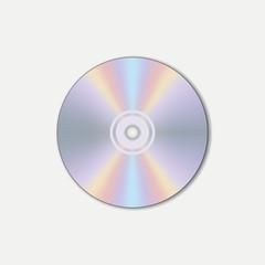 CD, compact disc. Digital carrier. Vector illustration.
