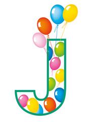 lettera J palloncini compleanno