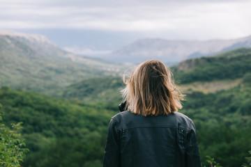Traveler woman watching scenery