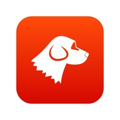 Beagle dog icon digital red