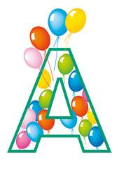 lettera A palloncini compleanno