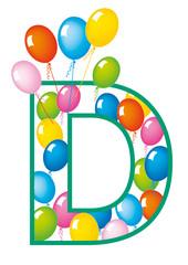 lettera D palloncini compleanno