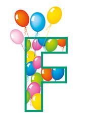lettera F palloncini compleanno