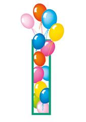 lettera I palloncini compleanno