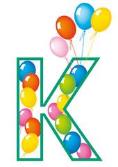 lettera K palloncini compleanno