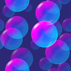 rainbow pink and blue bubbles with light. vector illustration