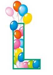 lettera L palloncini compleanno