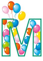 lettera M palloncini compleanno