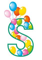 lettera S palloncini compleanno